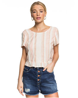 IVORY CREAM WOMENS CLOTHING ROXY FASHION TOPS - ERJWT03400-TFM3