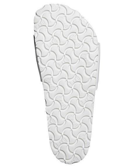 WHITE WOMENS FOOTWEAR BIRKENSTOCK SLIDES - 040731WWHI