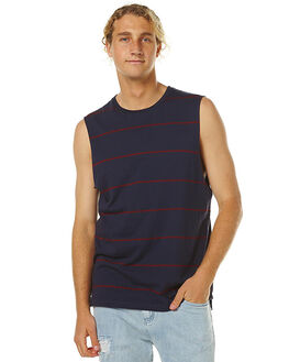 NAVY MENS CLOTHING GLOBE SINGLETS - GB01621010NVY