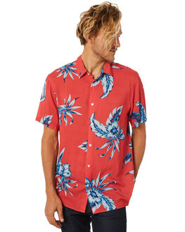 WASHED RED MENS CLOTHING BILLABONG SHIRTS - 9582210WSRED