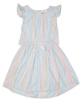 BLUE NEON STRIPE KIDS TODDLER GIRLS EVES SISTER DRESSES - 8021040BLUN