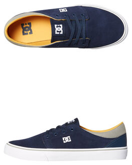 NAVY YELLOW MENS FOOTWEAR DC SHOES SNEAKERS - ADYS300172NY0
