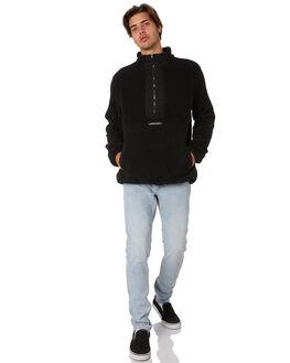 BLACK MENS CLOTHING SANTA CRUZ JUMPERS - SC-MFA9166BLK