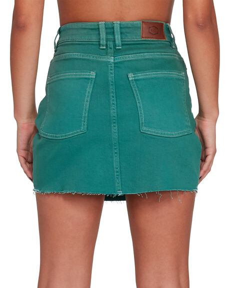 STORM GREEN WOMENS CLOTHING RVCA SKIRTS - RV-R405831-SRN