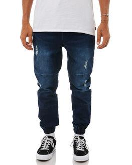 DARK BLUE MENS CLOTHING ACADEMY BRAND PANTS - 18W141DBLUE