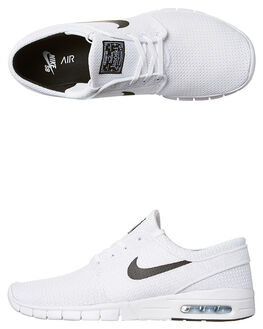 WHITE BLACK MENS FOOTWEAR NIKE SKATE SHOES - SS631303-100M