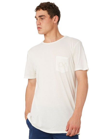 CHALK WHITE OUTLET MENS OUTERKNOWN TEES - 12152101CWH