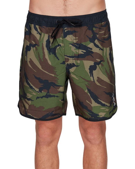 GREEN CAMO MENS CLOTHING RVCA BOARDSHORTS - RV-R305414-GC2