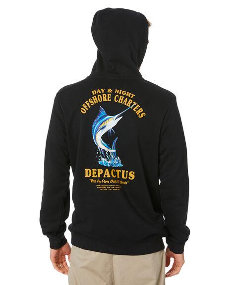 BLACK MENS CLOTHING DEPACTUS JUMPERS - D5204443BLACK