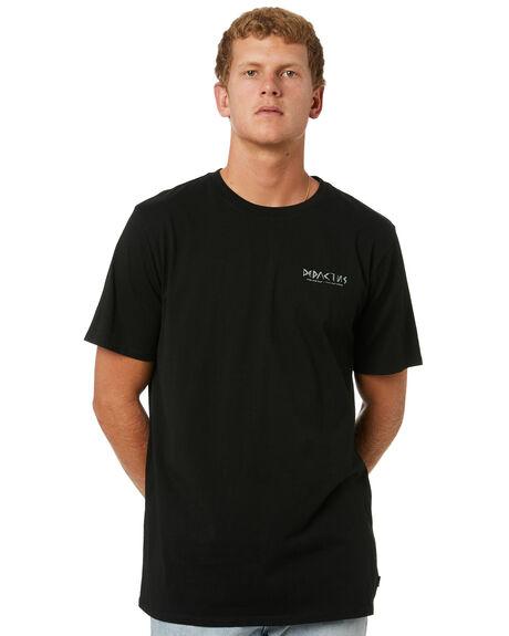 BLACK MENS CLOTHING DEPACTUS TEES - D5214004BLK