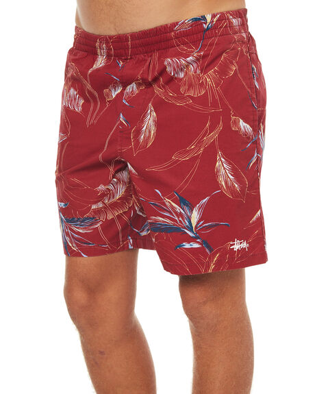 RED MENS CLOTHING STUSSY BOARDSHORTS - ST073616RED