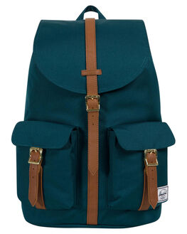 DEEP TEAL TAN MENS ACCESSORIES HERSCHEL SUPPLY CO BAGS + BACKPACKS - 10233-02108-OSTEAL