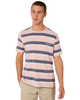 PINK STRIPE MENS CLOTHING BARNEY COOLS TEES - 111-CR3PSTRP