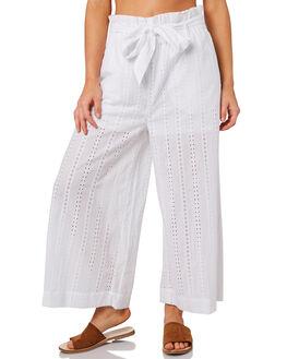 WHITE WOMENS CLOTHING RUSTY PANTS - PAL1075WHT
