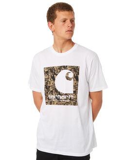 WHITE MENS CLOTHING CARHARTT TEES - I024755WHT