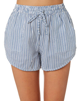 STRIPE CHAMBRAY WOMENS CLOTHING RUE STIIC SHORTS - RWS-19-52-3SSCL