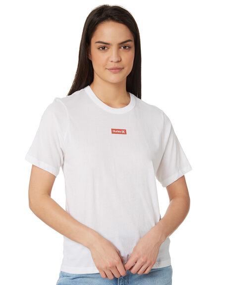 WHITE WOMENS CLOTHING HURLEY TEES - GTSPSMLG100