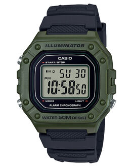 OLIVE MENS ACCESSORIES CASIO WATCHES - W218H-3AOLV