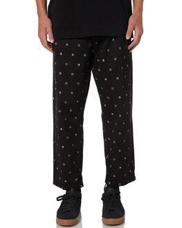 SYMBOL BLACK MENS CLOTHING OBEY PANTS - 142020129SBLK