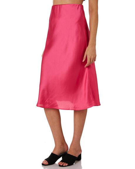 DEEP PINK WOMENS CLOTHING LULU AND ROSE SKIRTS - LU23705PINK