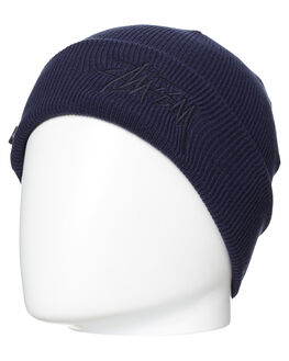 NAVY MENS ACCESSORIES STUSSY HEADWEAR - ST776006NVY