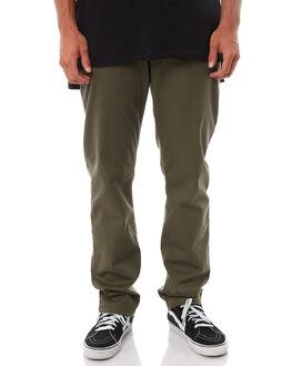 OLIVE GREEN MENS CLOTHING RVCA PANTS - R383273OLI