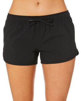 BLACK WOMENS CLOTHING RIP CURL SHORTS - GBOAT90090