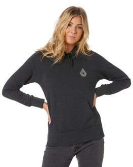 BLACK COMBO WOMENS CLOTHING VOLCOM JUMPERS - B3111886-BLK