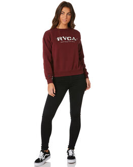 BORDEAUX WOMENS CLOTHING RVCA JUMPERS - R283161BOR