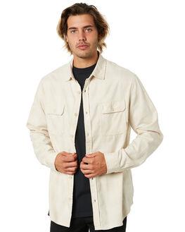 CREME HEATHER BUFF MENS CLOTHING BURTON SHIRTS - 14053112100