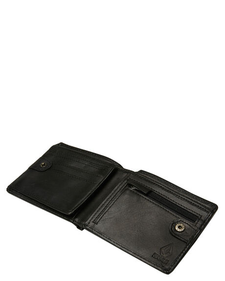 BLACK MENS ACCESSORIES VOLCOM WALLETS - D7511376BLK