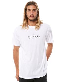 WHITE MENS CLOTHING THRILLS TEES - TA8-139AWHT