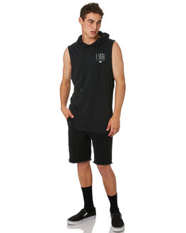 WASHED BLACK MENS CLOTHING SILENT THEORY SINGLETS - 4022105WBLK