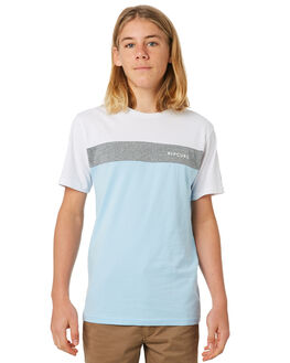 WHITE GREY KIDS BOYS RIP CURL TOPS - KTESG23329