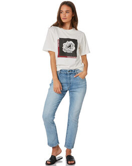 VINTAGE WHITE WOMENS CLOTHING SILENT THEORY TEES - 6034006VWHT