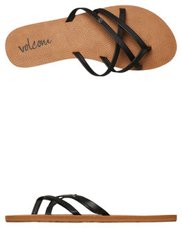 BLACK WOMENS FOOTWEAR VOLCOM FASHION SANDALS - W0811550BLK