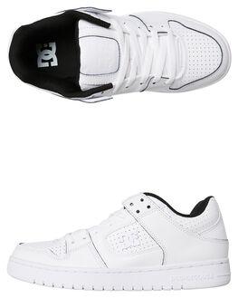 WHITE BLACK MENS FOOTWEAR DC SHOES SNEAKERS - ADYS100314WBK