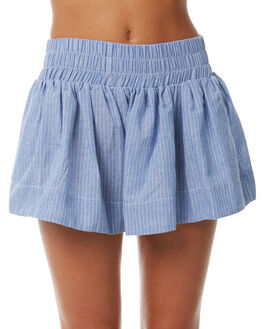 BLUE STRIPE WOMENS CLOTHING TEE INK SHORTS - CAST42ABLU