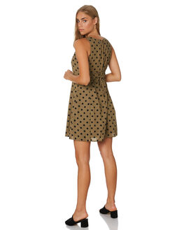 BLACK AND KHAKI WOMENS CLOTHING ALL ABOUT EVE DRESSES - 6446213PRINT