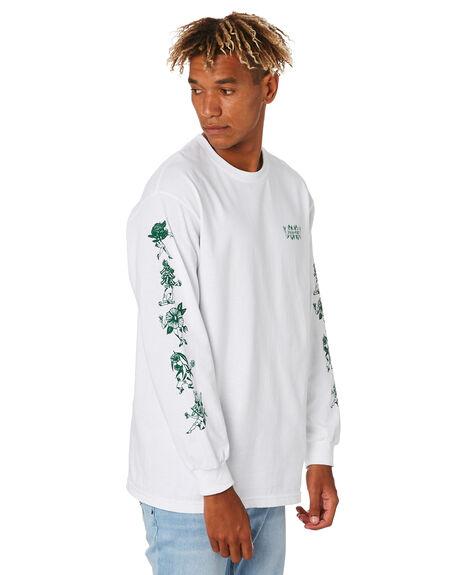 WHITE MENS CLOTHING PASS PORT TEES - PPFLORALLSWHT
