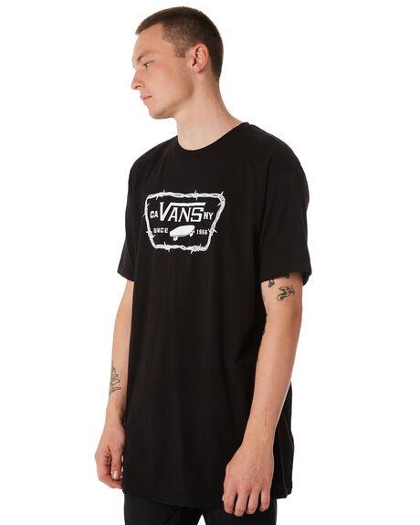 BLACK MENS CLOTHING VANS TEES - VNA3H5JBLKBLK