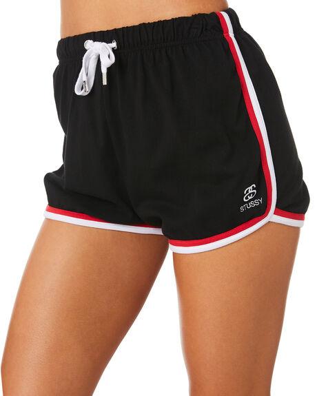 BLACK WOMENS CLOTHING STUSSY SHORTS - ST183610BLK