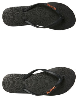 BLACK WOMENS FOOTWEAR BILLABONG THONGS - 6681803BLK