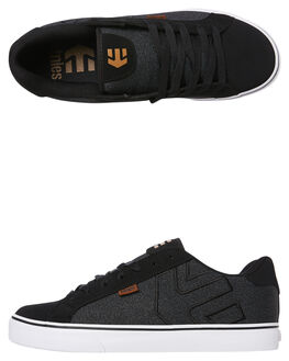 BLACK GREY MENS FOOTWEAR ETNIES SKATE SHOES - 4101000282BLKG