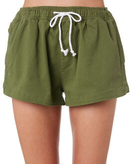 DARK SAGE WOMENS CLOTHING SWELL SHORTS - S8188107DKSAGE