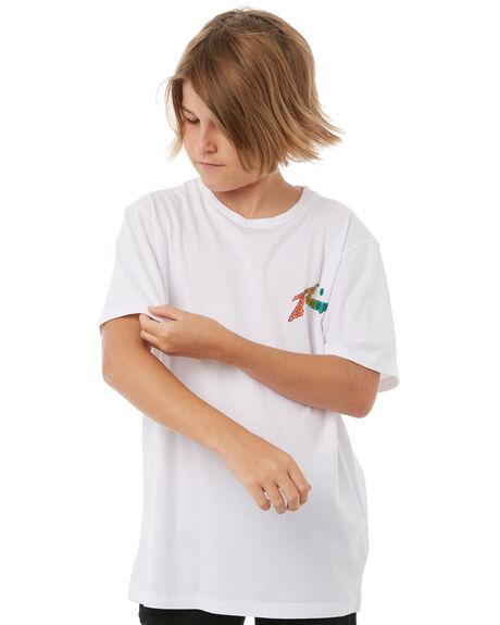 WHITE KIDS BOYS RUSTY TEES - TTB0572WHT