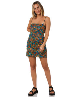 BLACK WOMENS CLOTHING COOLS CLUB DRESSES - 208-CW6BLK