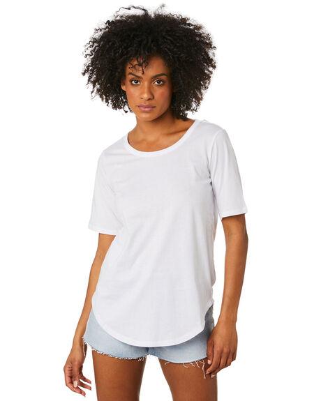 WHITE WOMENS CLOTHING BETTY BASICS TEES - BB267WHT