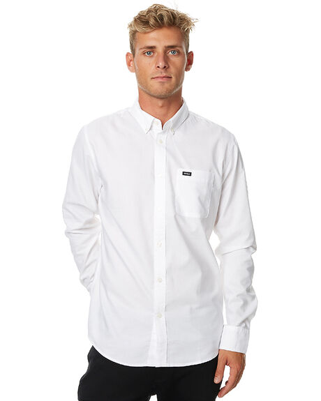 WHITE OUTLET MENS RVCA SHIRTS - R141216WHI