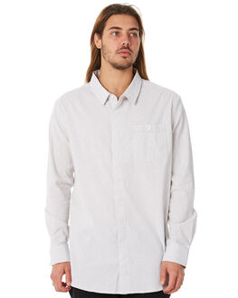 WHITE GREY MENS CLOTHING RPM SHIRTS - 8WMT10AWGRY
